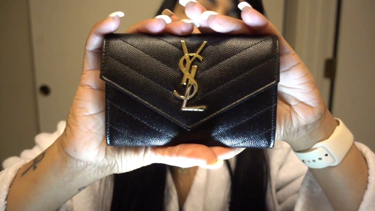 Saint Laurent Monogram envelope wallet gfted1x