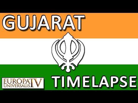 EU4 - Sikh Gujarat with Dharma - Timelapse