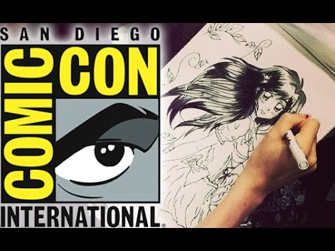 Dibujando  en San Diego International Comic Con