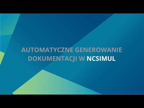 NCSIMUL | Generowanie dokumentacji pdf - Tutorial