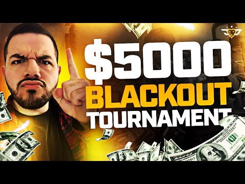 $5,000 BLACKOUT TOURNAMENT?! I'M OFFICIALLY A PRO! (Call of Duty: Blackout)