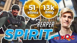 Overwatch - SPIRIT's Reaper vs XQC And MOXY on Hollywood [SEASON 11]