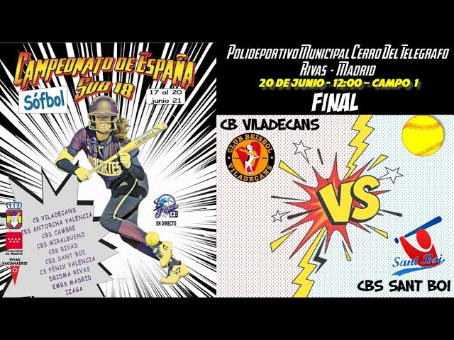 FINAL CB VILADECANS vs CBS SANT BOI  - 12:00