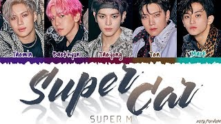 Gambar cover SuperM (슈퍼엠) - 'SUPER CAR' [Color Coded_Han_Rom_Eng]