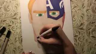 SPEED DRAWING: Steve Rogers/Captain America