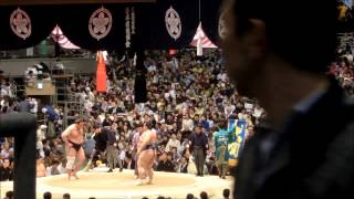 2015/03/18 大相撲 大阪場所 11日目 栃ノ心(西前頭4)-琴奨菊(西大...