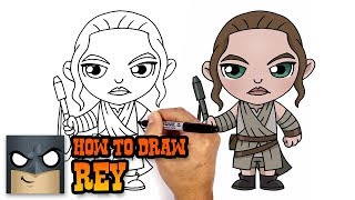 How to Draw Rey | Star Wars