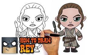 How to Draw Rey | Star Wars