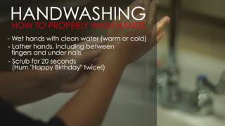 Handwashing: How to properly wash hands