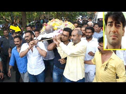 Ajay Devgan Gets EMOTIONAL At Father Veeru Devgan's Funeral