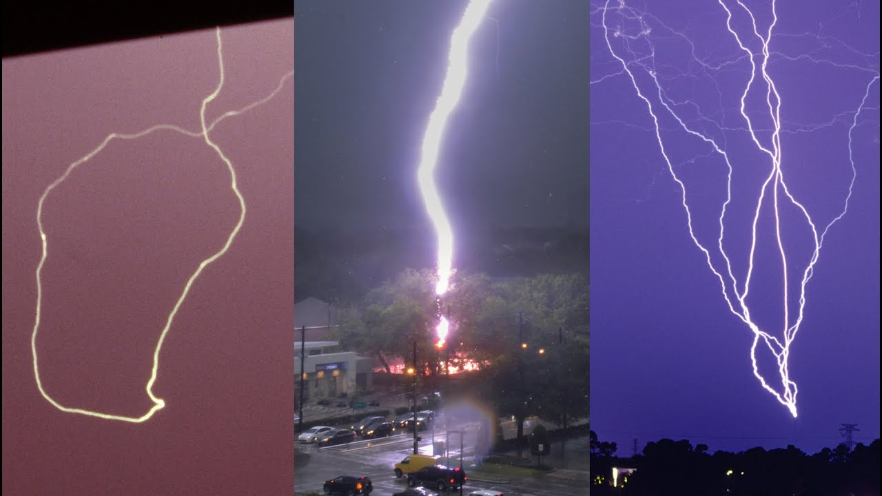 Strange lightning strikes caught on camera and explained