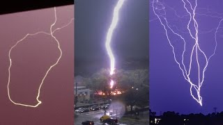 STRANGE LIGHTNING STRIKES - Caught on Camera and explained