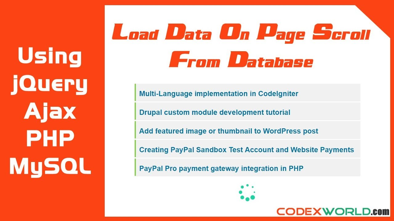 Load Data on Page Scroll from MySQL Database using jQuery
