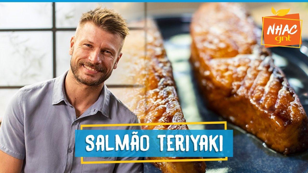 Salmão teriyaki: aprenda a usar técnica para grelhar proteína | Rodrigo Hilbert | Tempero de Família