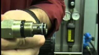 Hydraulique - Fonctionnement d'une soupape de sécurité (Safety valve)