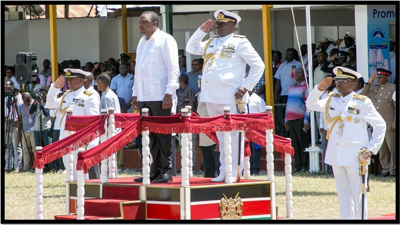 President Uhuru Kenyatta Inspects Guard of Honour at Mombasa ASK Show