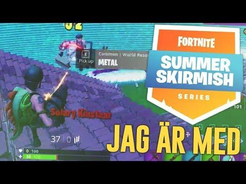 ETT GAME FRÅN FORTNITE SKIRMISH TOURNAMENT! (DÖDAR ETT PROFFS LAG) - FORTNITE PÅ SVENSKA