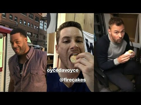 Jesse Lee Soffer  Instagram Story Videos  August 9 2017 w Patrick Flueger and Laroyce Hawkins
