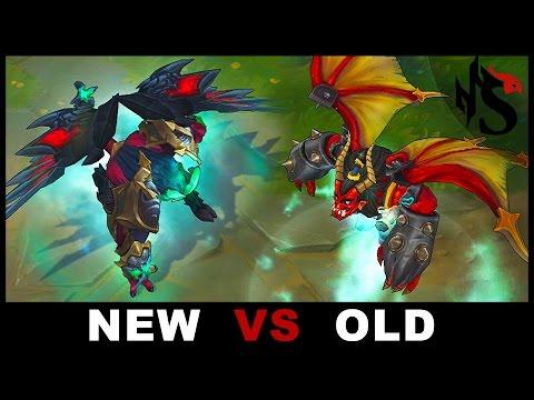 NEW Gatekeeper Galio vs OLD Legendary Skin Comparison All Abilities Rework 2017 (League of Legends)
