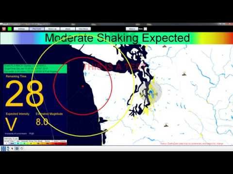 ShakeAlert: Earthquake Early Warning Simulation of M8.0 Cascadia Offshore Earthquake