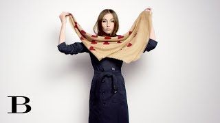 How to tie a scarf: The Ripple, from Burberry