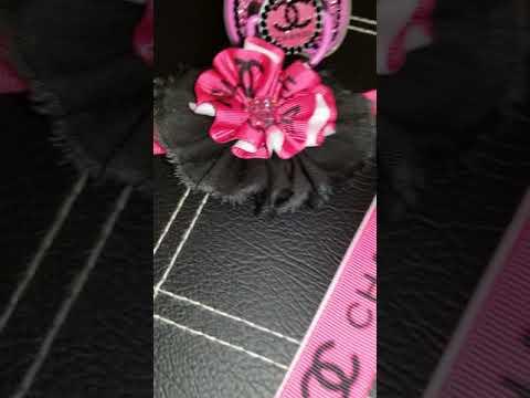 Pink & Black Chanel Inspired 3pc Bling4Reborn Designer Pacifier Set