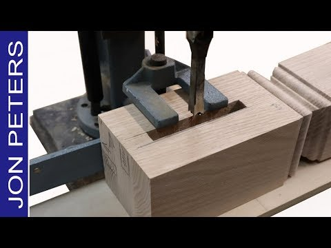 Mortise Machine Basics How To Use A Hollow Chisel Mortiser Youtube