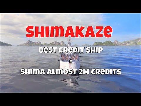Shimakaze T10 IJN DD   Best Credit Ship = Shima Almost 2M Credits   World of Warships