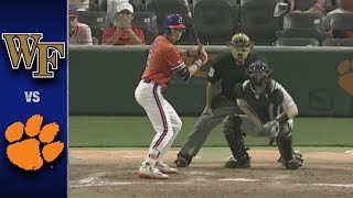 Wake Forest vs. Clemson Baseball Highlights (April 21, 2017)