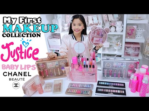 JUSTICE MAKEUP COLLECTION + A LOOK 👀 at MOM's MAKEUP TOO!!!