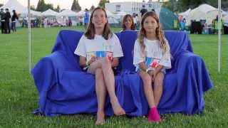 Relay For Life Blue Couch