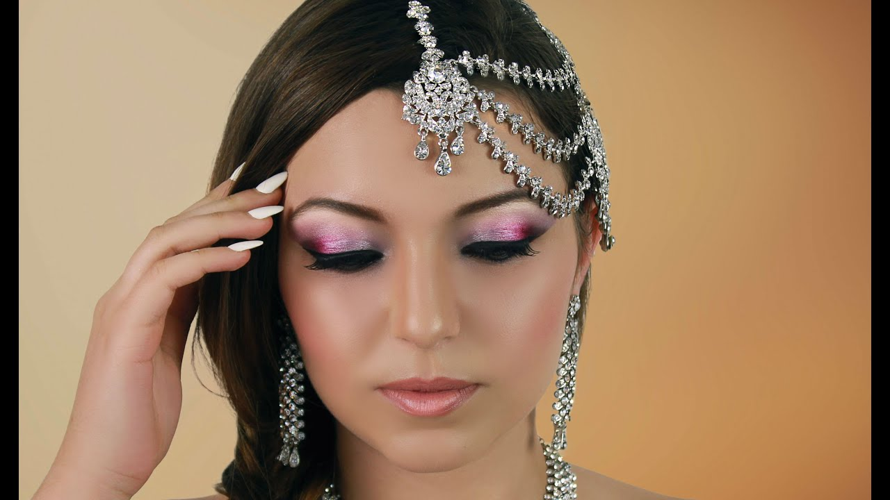 Pink Indian Bridal Makeup Tutorial - Pakistani / Asian ...
