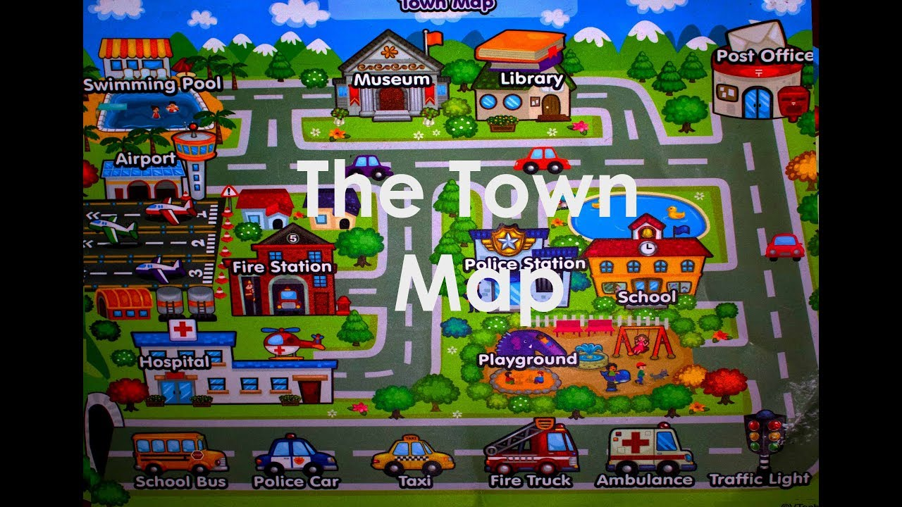 Public Places in my Town: Vocabulary words - YouTube