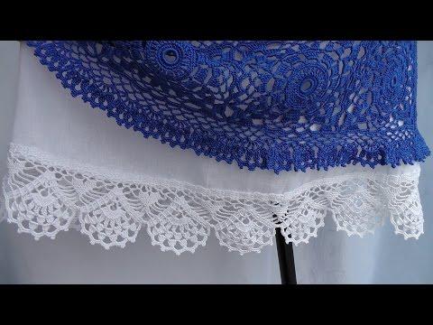 Вязаная кайма крючком для юбки схемы