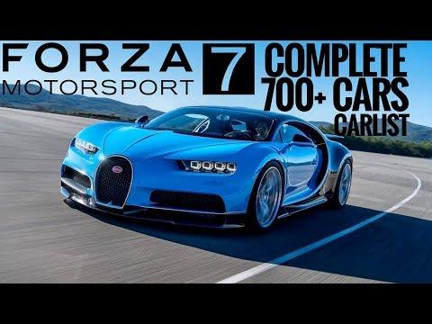 Forza Motorsport 7   Visual Car List  All 700+ Launch Cars  FULL CAR LIST