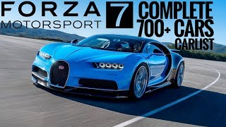 Forza Motorsport 7 | Visual Car List | All 700+ Launch Cars | FULL CAR LIST
