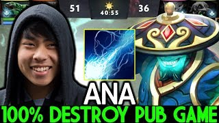 ANA [Storm Spirit] Monster Mid is Back Destroy Pub Game 7.24 Dota 2