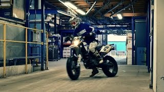 Urban Supermoto Ride Inside A Factory - World Is A Playground Pt. II - Supermofools