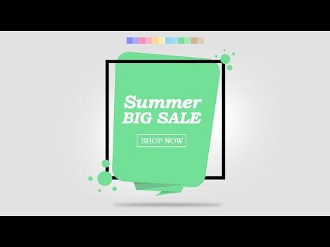 Adobe photoshop Graphic Design Tutorial – Summer Sale Banner Design