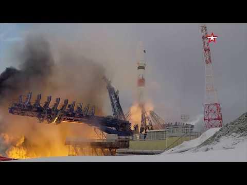 Кадры пуска ракеты-носителя