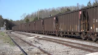 Paducah & Louisville Railway SD70MAC #4510 leads LG4 at Grand Rivers, Kentucky