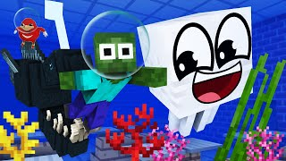 Monster School : SWIMMING in FLOOD Challenge -  Rusplaying Funny Minecraft Animation