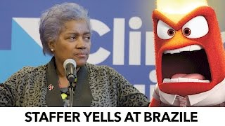 dnc staffer yells at donna brazile