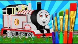 Coloring Timothy train for kids. Drawing animation Thomas and Friends. Colouring book page.