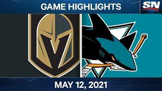 NHL Game Highlights | Golden Knights vs. Sharks - May 12, 2021