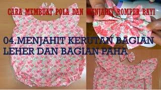 Cara Membuat Pola Dan Menjahit Baju Dress Romper Bayi BAGIAN 4 MENJAHIT LAPISAN UNTUK KERUTAN LEHER
