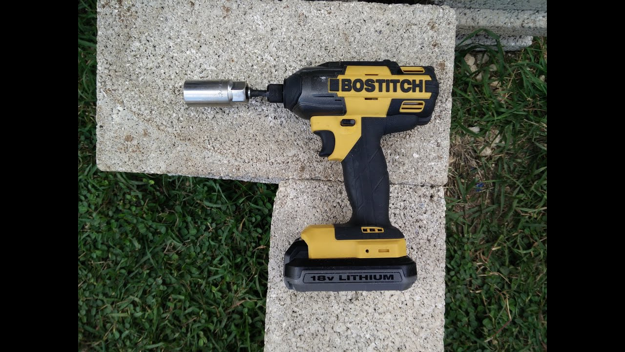 bostitch btc440lb 18v impact driver lug nut bolt remover test youtube. Black Bedroom Furniture Sets. Home Design Ideas