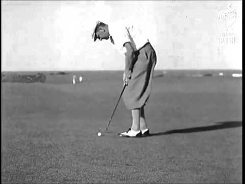 Bobby Locke putting 1940