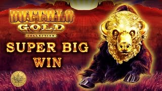 *SUPER BIG WIN* in a retrigger city of Buffalo Gold - Slot Machine Bonus