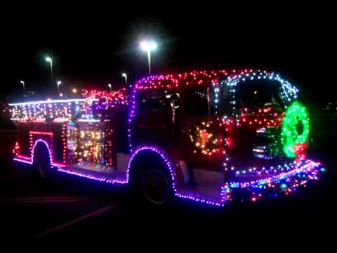 Old fire truck in Christmas lights. - YouTube